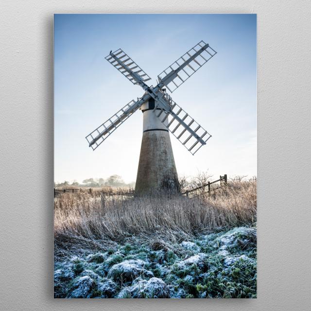 Windmill metal poster
