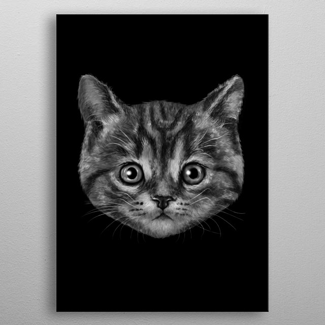 Cat is the New Black metal poster
