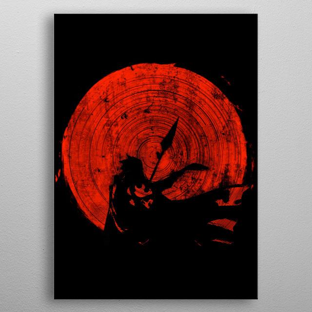 Gurren Lagann   Red Sun  metal poster