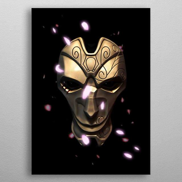 Khada Jhin. Modeled in zbrush, edited in photoshop metal poster