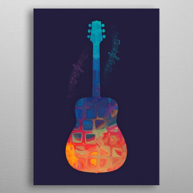 Guitar Color metal poster