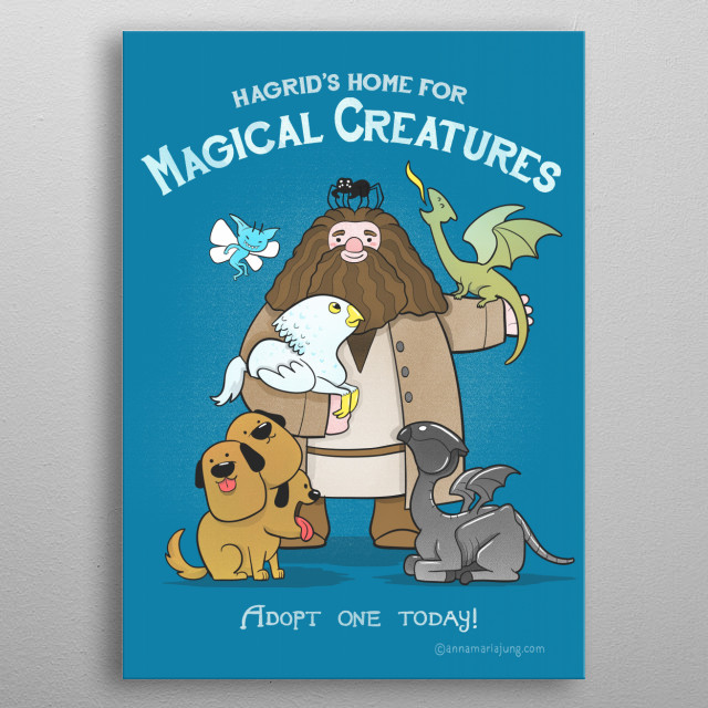 Home for Magical Creatures metal poster