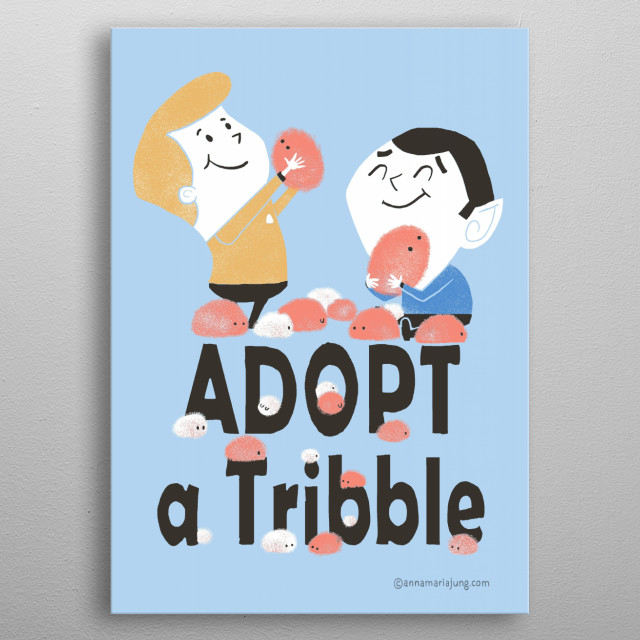 Adopt a Tribble metal poster