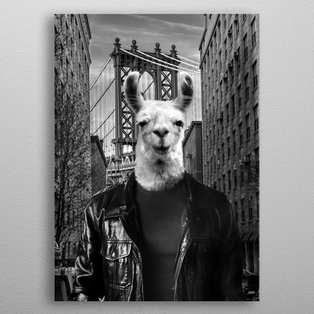 NY Tourist metal poster