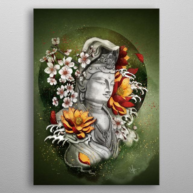 As a Lotus metal poster