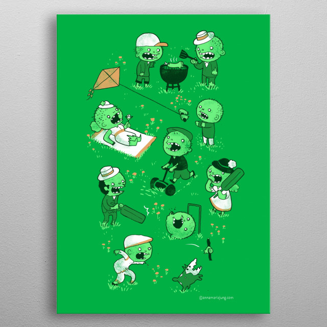 Lawn of the dead metal poster
