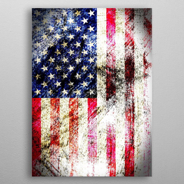The Stars and Stripes metal poster