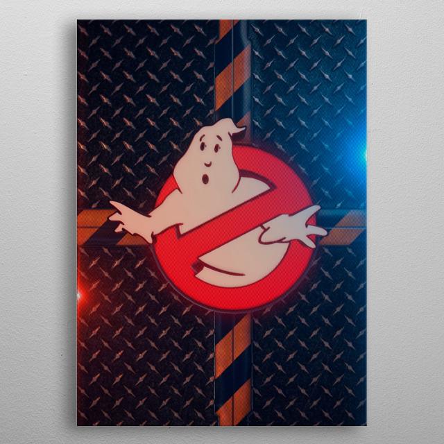 3D Ghostbusters Emblem  metal poster