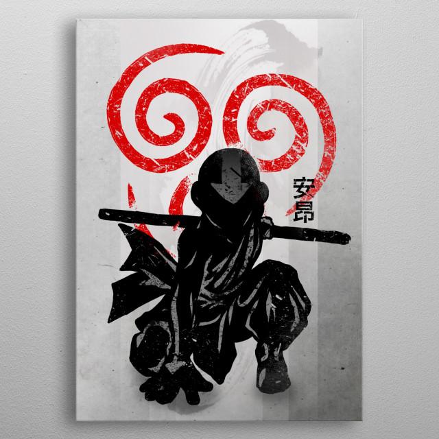 Avatar Aang metal poster