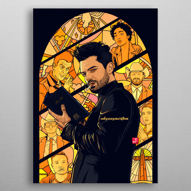 Preacher. And you believe in God? metal poster