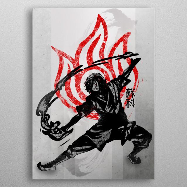 Fire Bending | Crimson Zuko metal poster