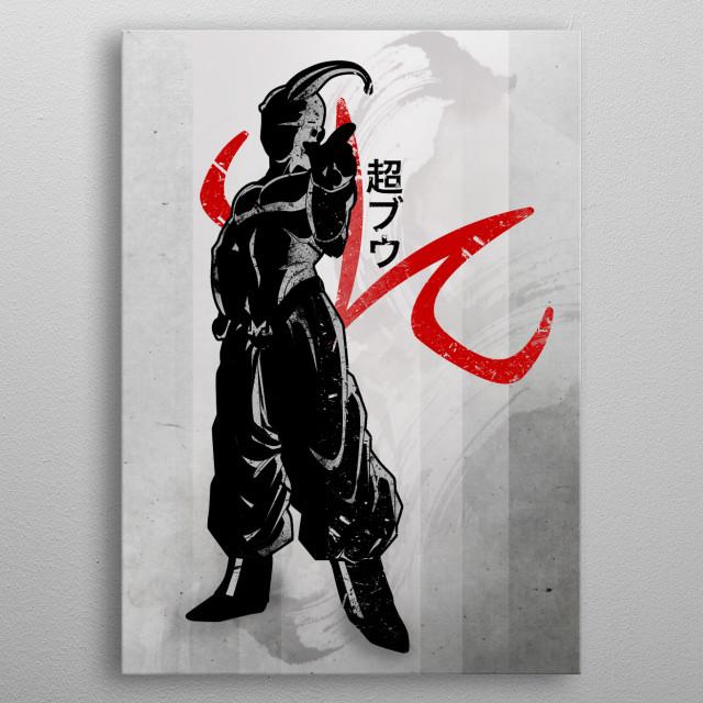 Crimson Super Buu metal poster