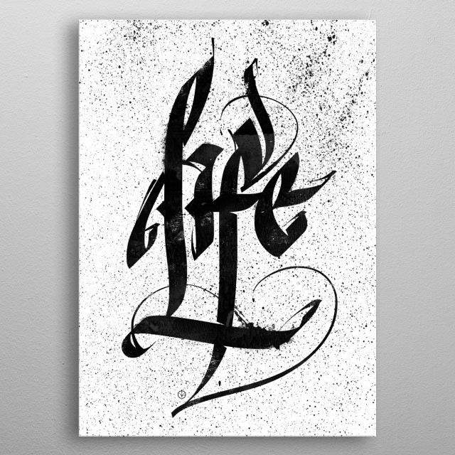 High-quality metal print from amazing Caligraphy collection will bring unique style to your space and will show off your personality. metal poster