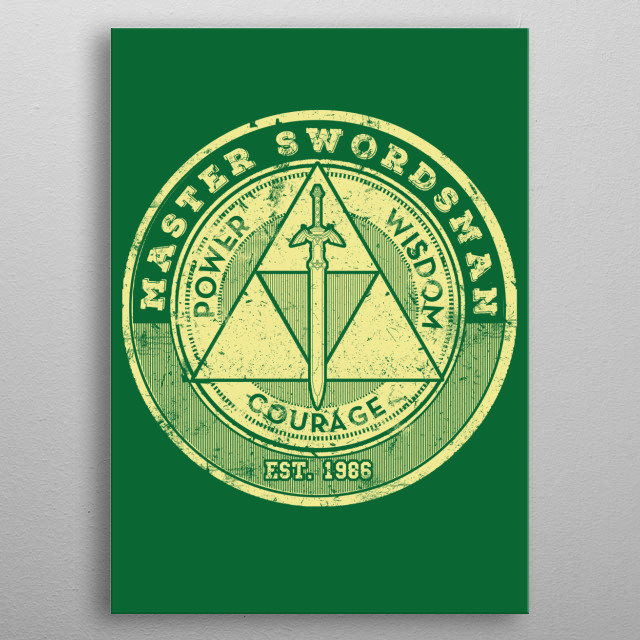 The Master Swordsman metal poster