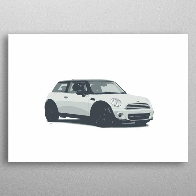 Mini Cooper. metal poster