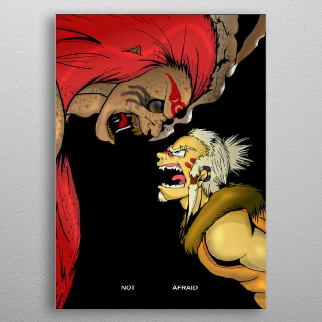 Hero Vs Villain. Original Characters by Edge209.  metal poster