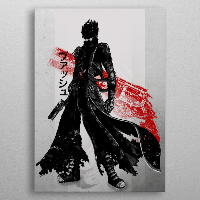 Crimson Vash metal poster