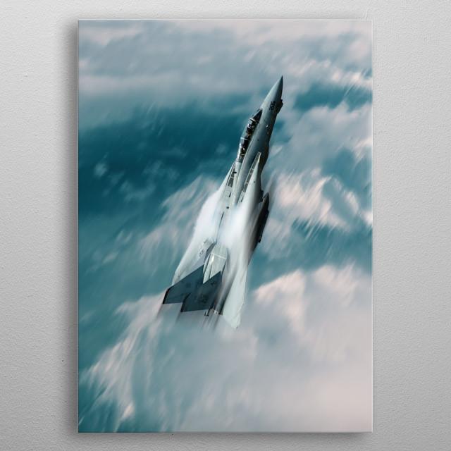 The US Navy F14 Tomcat climbing rapidly metal poster