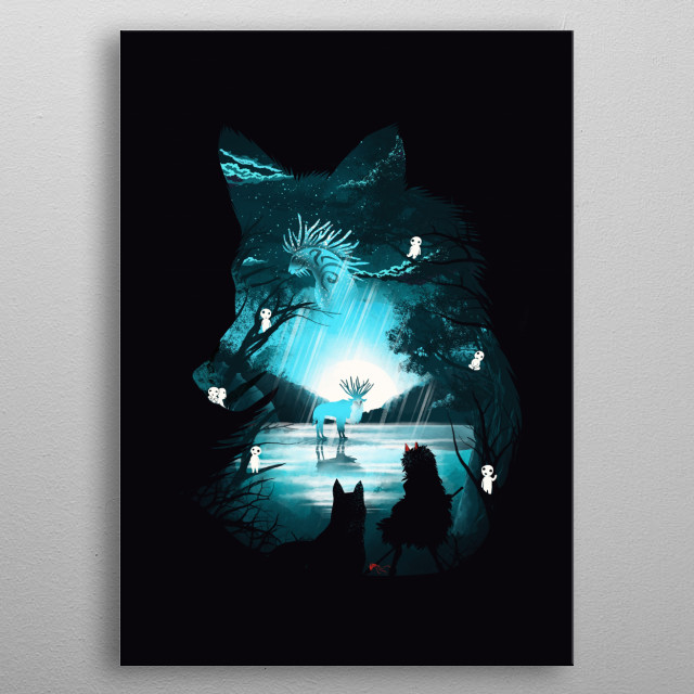 Mystical Forest metal poster