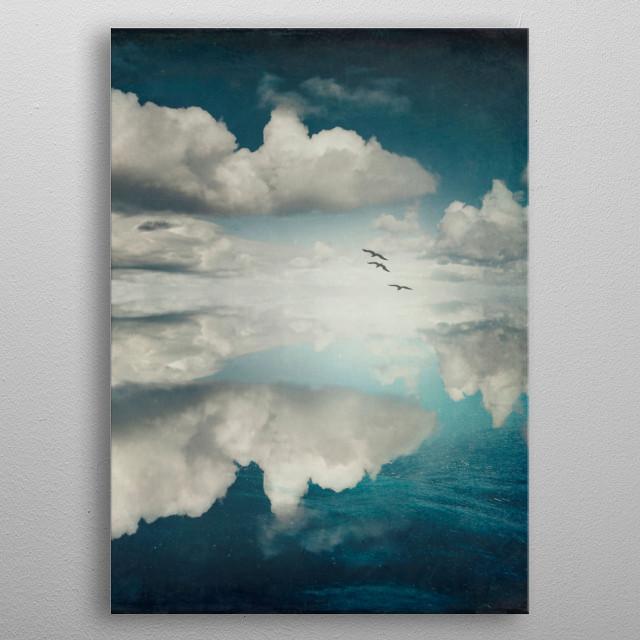 Surreal cloudscape metal poster