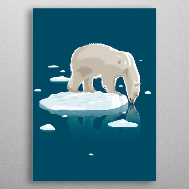 bear polar, metal poster