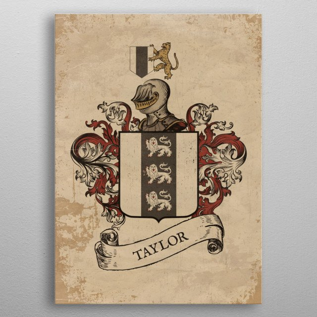 High-quality metal print from amazing Heraldry collection will bring unique style to your space and will show off your personality. metal poster