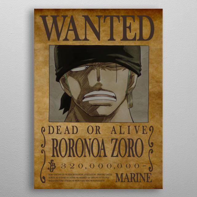 New bounty for the 3 swords swordman metal poster