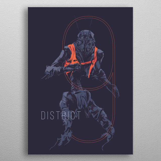 District 9 - movie poster metal poster
