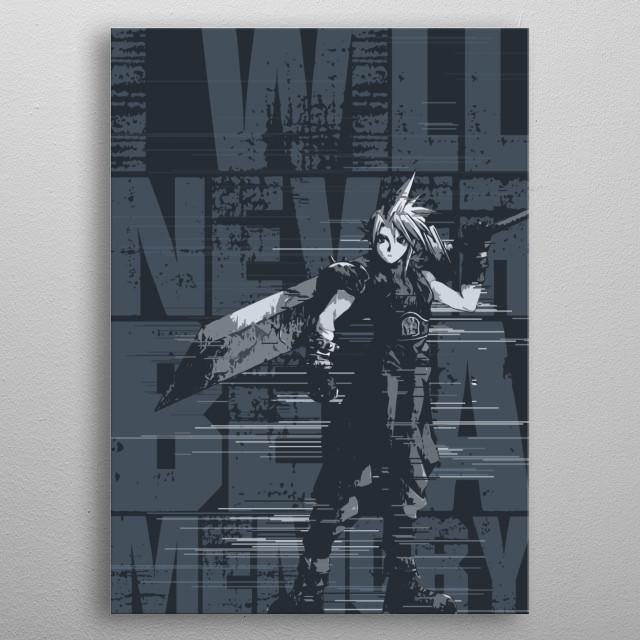Final Fantasy 7's Cloud Strife. metal poster