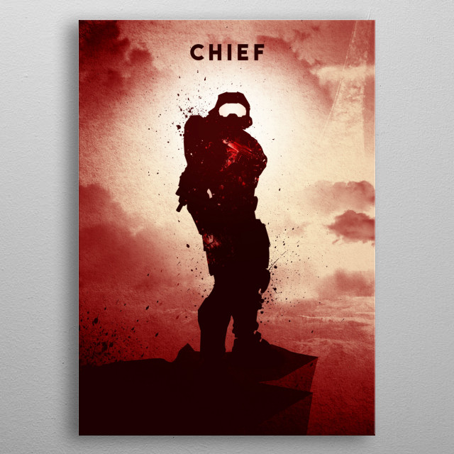 For Chief Fans · Red Version metal poster