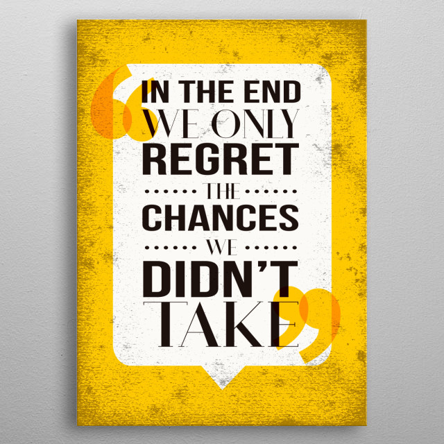 Inspirational quote poster. Ideal for a Home Office! metal poster