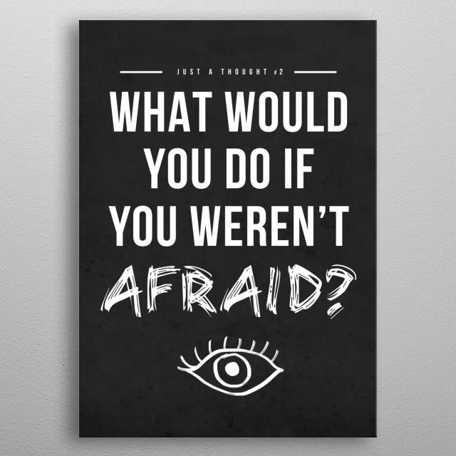 Afraid metal poster