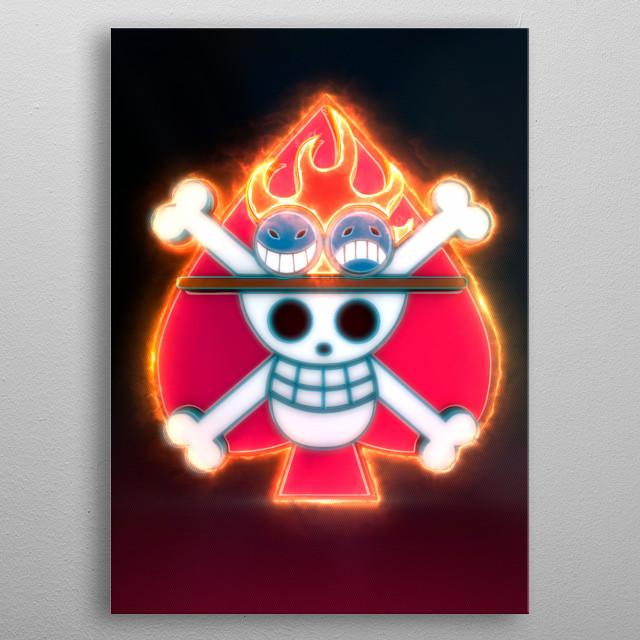 3D Ace's Flag Emblem. (modeling, post-production, edition  metal poster
