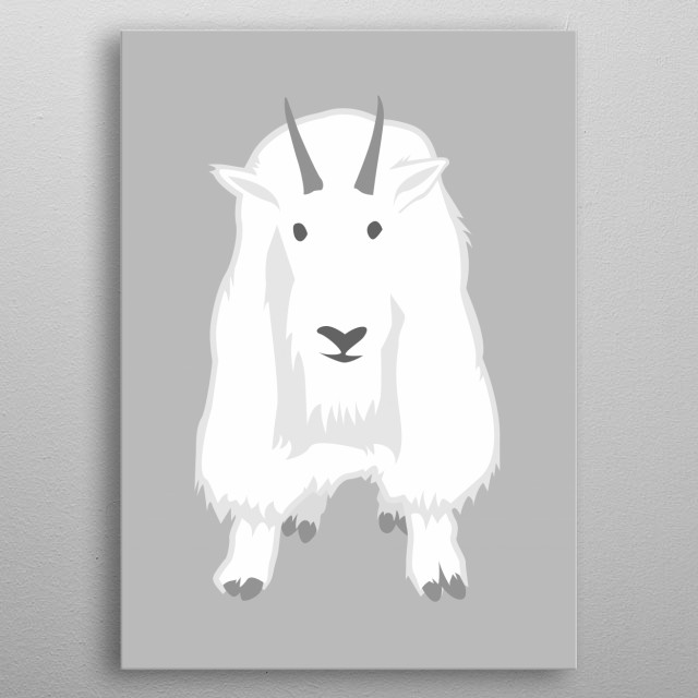 Mountain Goat metal poster