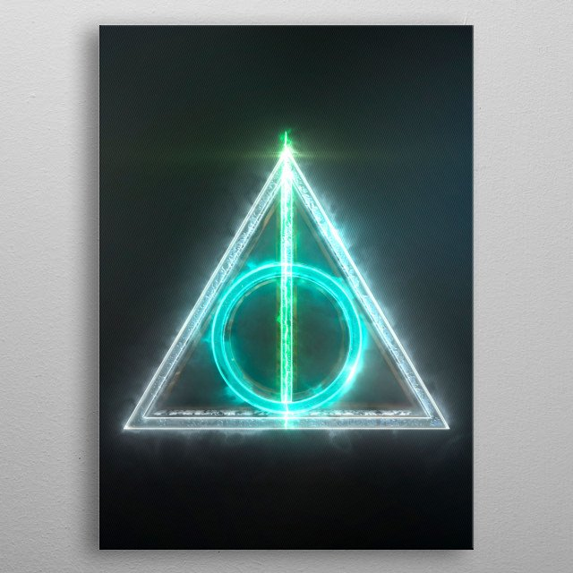 3D the deathly hallows Emblem. (Modeling, Post-production, edition  metal poster