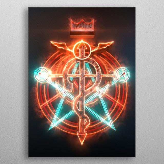 3D FMA Transmutation circle. (modeling, post-production, edition  metal poster
