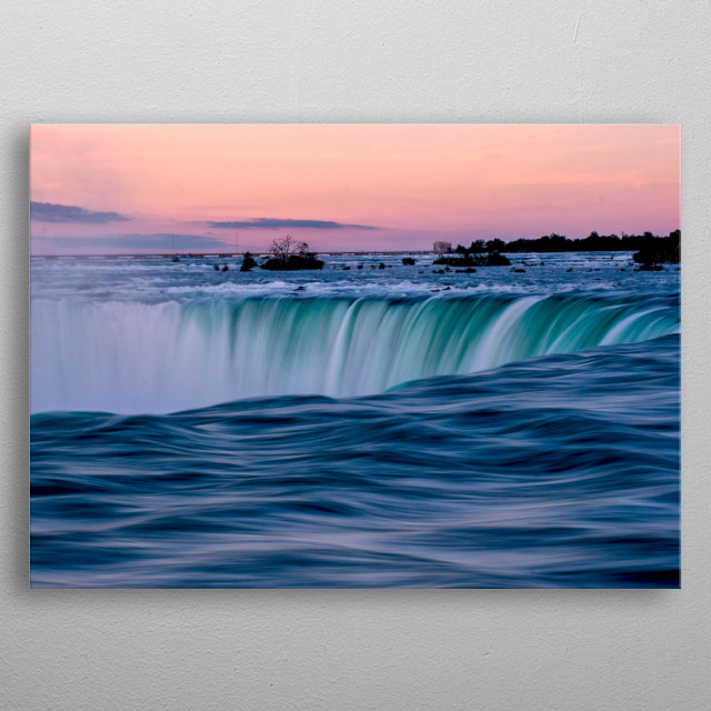 Taken at the Niagara Falls, in Ontario, Canada. By Ken Chambers. metal poster