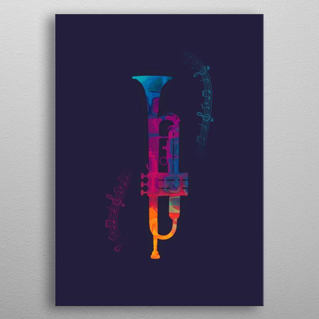 Trumpet Color metal poster