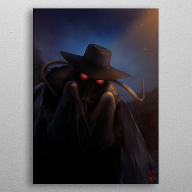 Cryptomonsters - The Mothman metal poster