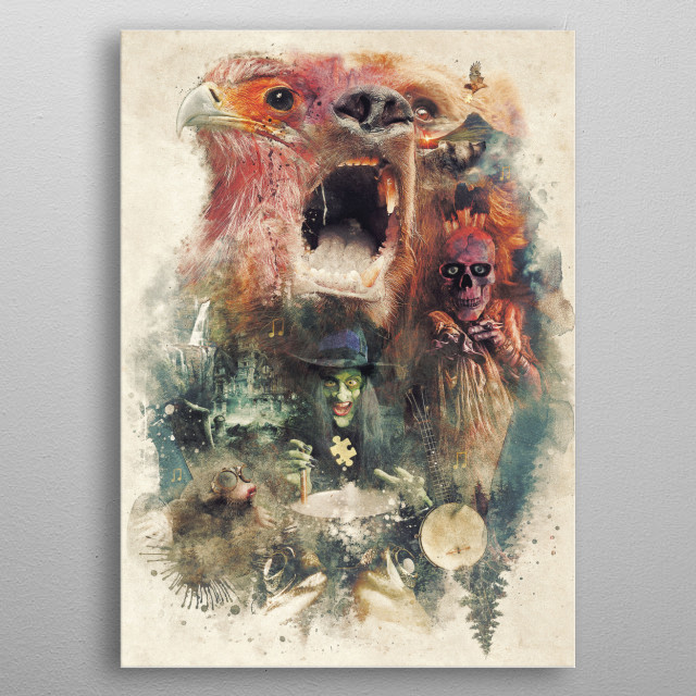 High-quality metal print from amazing Video Game Inspired collection will bring unique style to your space and will show off your personality. metal poster