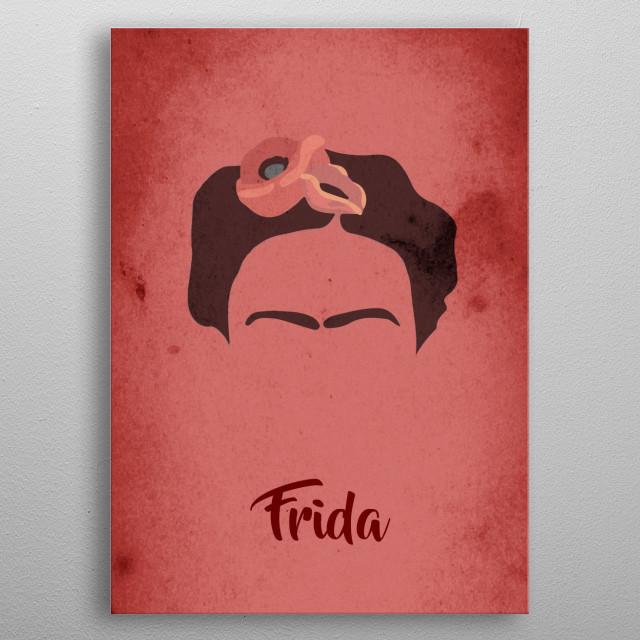 Frida metal poster