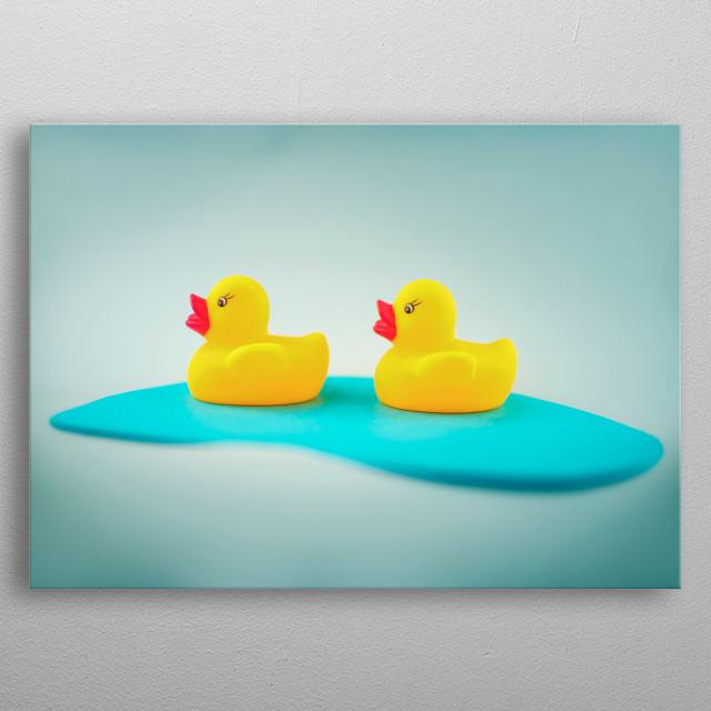 Rubber ducks metal poster