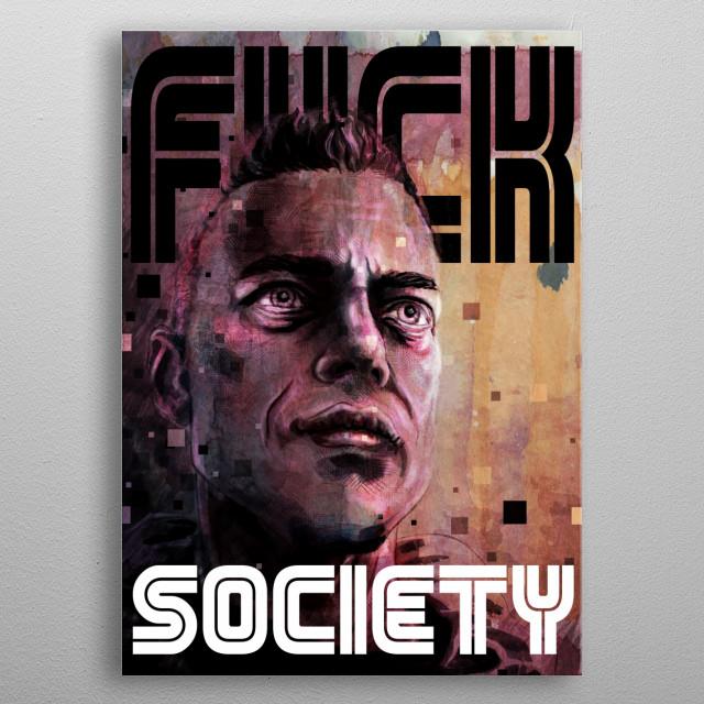 Mr. Robot metal poster