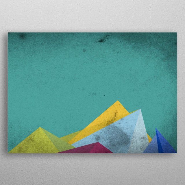 Mountaintops  metal poster