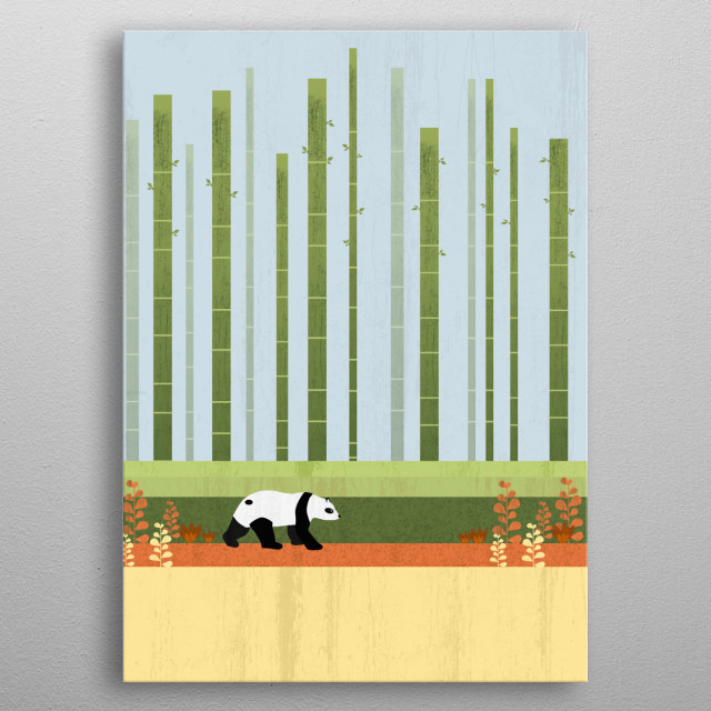 A lovely natural scenery in Asia :) metal poster