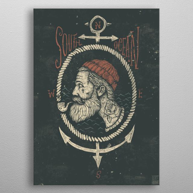 South Ocean metal poster