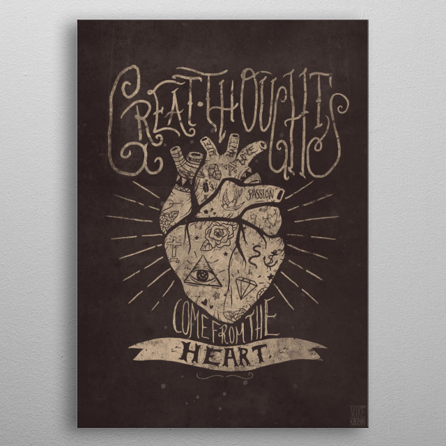 Great Thoughts metal poster