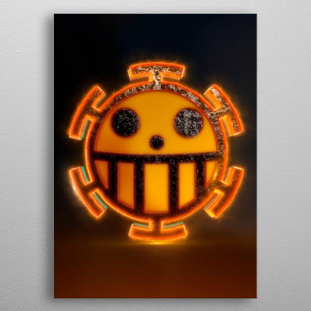 3D Heart Pirates Flag Emblem.  (modeling, post-production, edition  metal poster