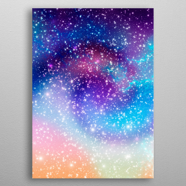 High-quality metal print from amazing Galaxy Nebula collection will bring unique style to your space and will show off your personality. metal poster