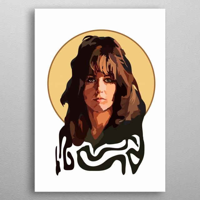 Grace Slick metal poster